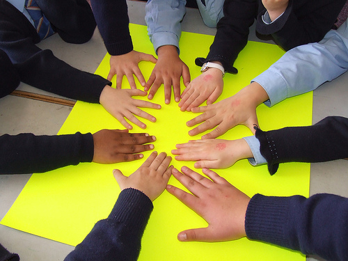 hands across the world CC BY NC SA building unities
